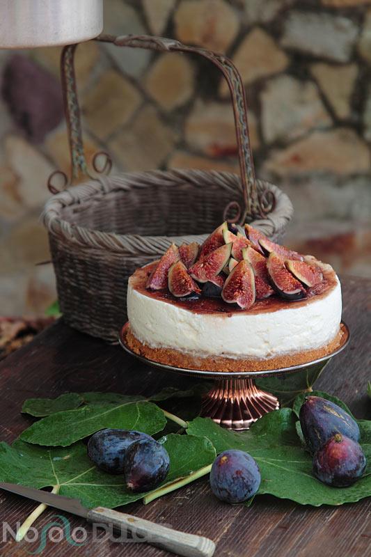 No solo dulces – Tarta de queso sin horno con higos y miel