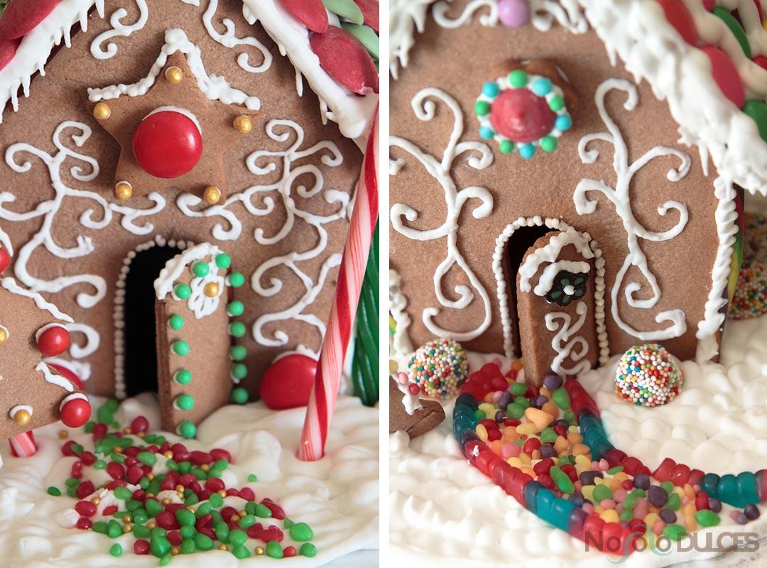 Casita de galletas de jengibre para Navidad