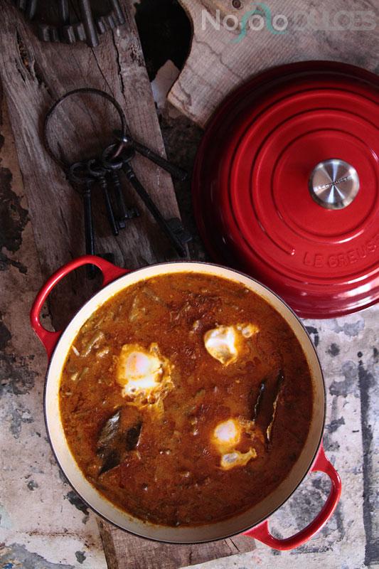 Receta tradicional andaluza de tagarninas esparragadas con huevo