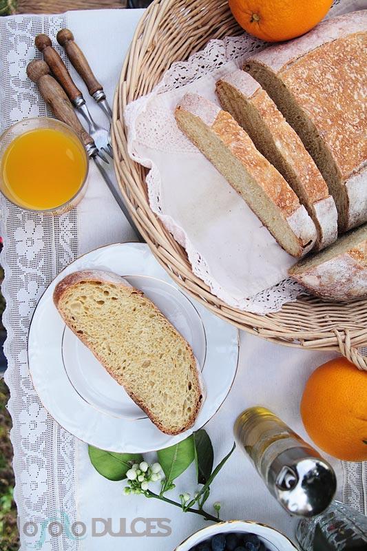 Pan integral de naranja para el desayuno