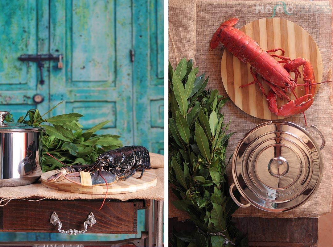 Ensalada de bogavante, cítricos y frutos rojos