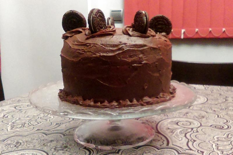 Tarta de chocolate y oreos