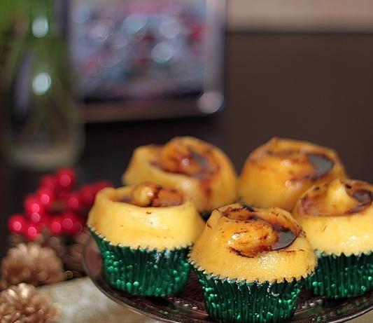 Cupcakes de naranja y vino con crema catalana