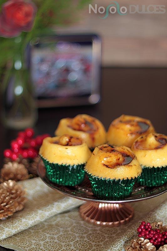 Cupcakes de naranja, vino y crema catalana para Navidad