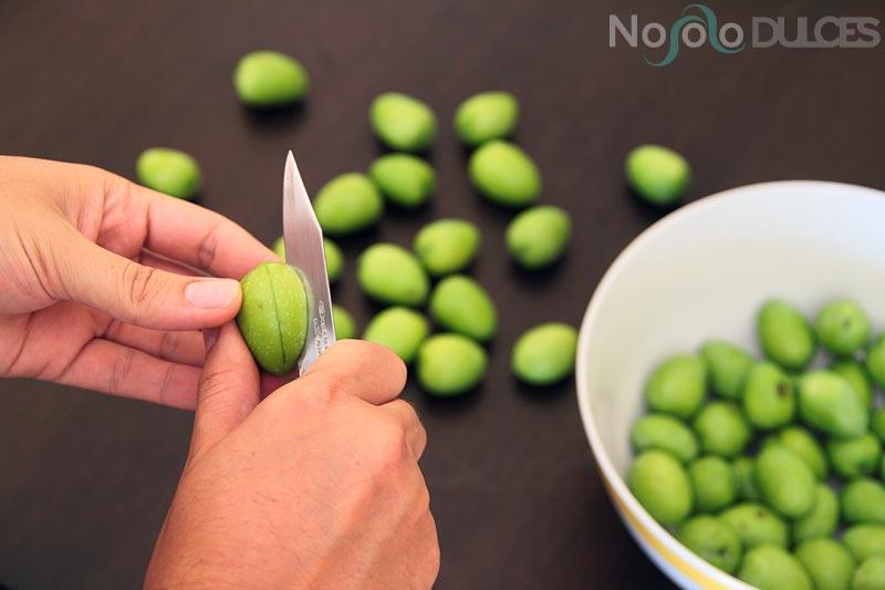 como se alinan las aceitunas con sosa