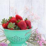 Helado de fresas con vinagre