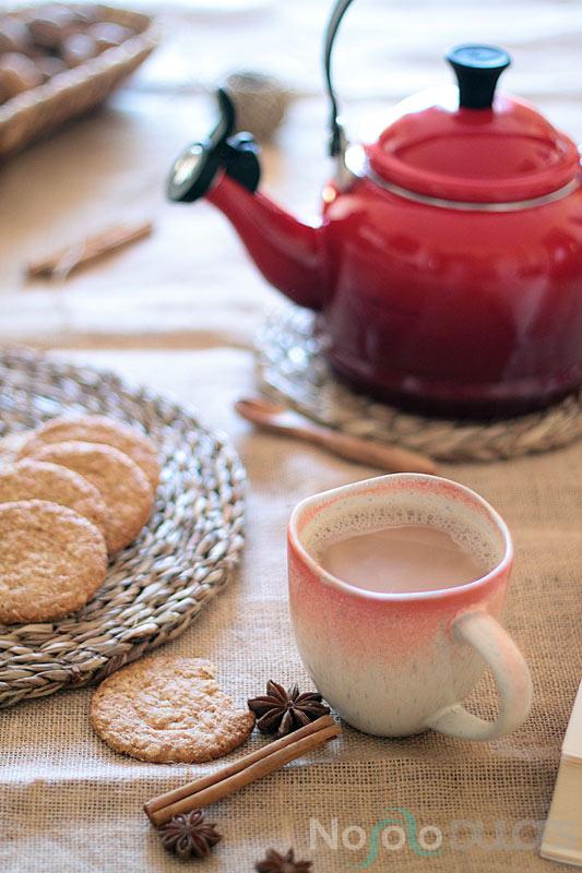 Té Masala chai latte tradicional sin lactosa