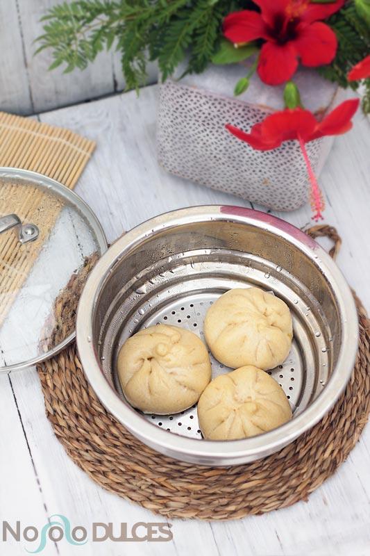 Baozis veganos (Pan relleno al vapor)