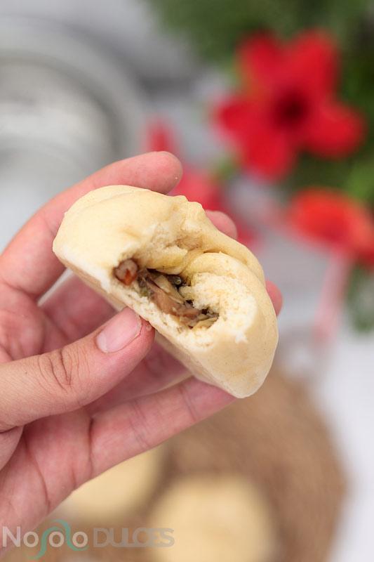 Baozis chinos veganos [Pan chino relleno al vapor]