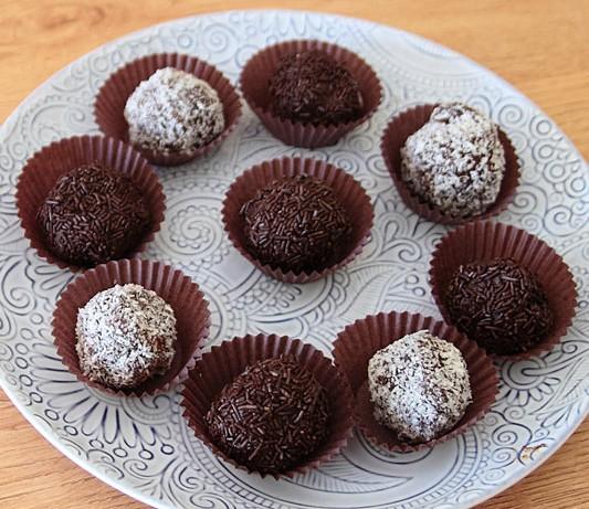 Trufas de chocolate con 3 ingredientes