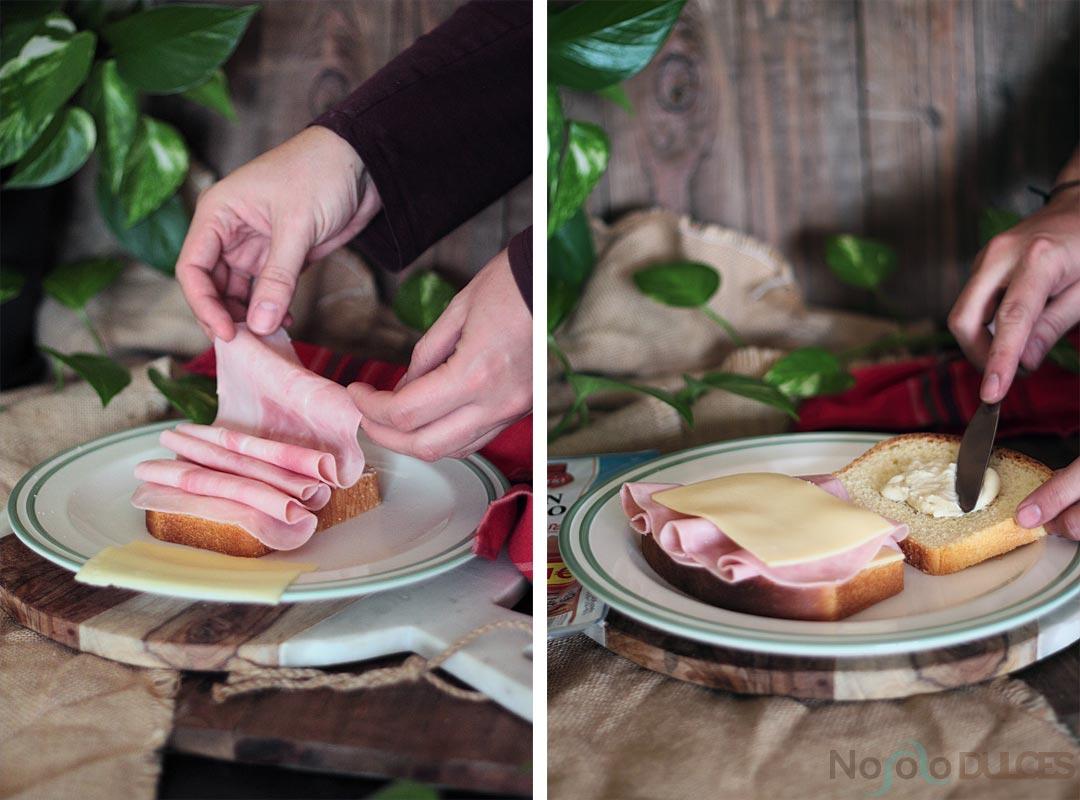 Receta original del croque monsieur con pan de molde casero. Con jamón cocido queso y bechamel para preparar un sandwich diferente y muy rico.